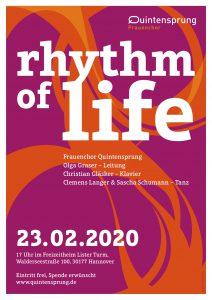 Chorkonzert Frauenchor Quintensprung: Rhythm of life - 23.02.2020 Freizeitheim Lister Turm